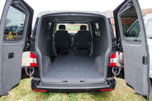 VW T5 rear carpeting.JPG
