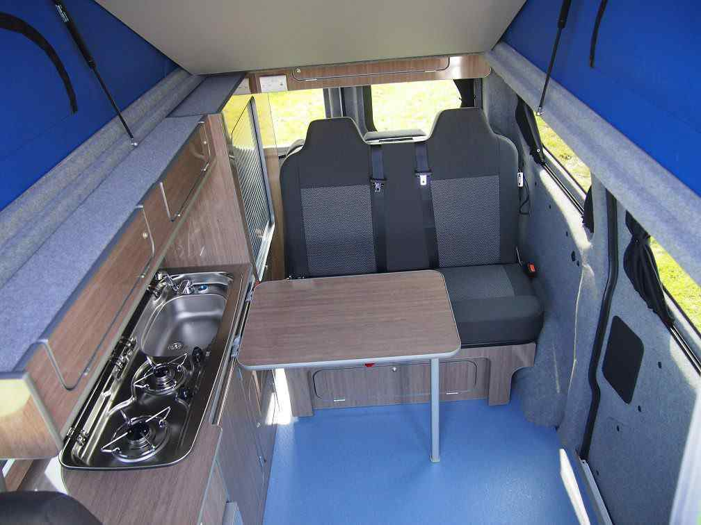 Transit Custom swb campervan, custom rib bed, .jpg